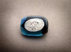 Blue glass Brooch Brooch Pin Glass Jewelry Brooch with by stikline