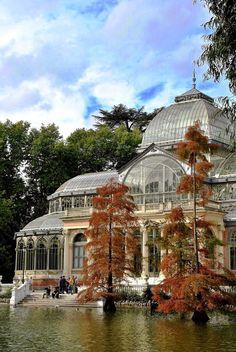 Palacio de Cristal in Buen Retiro Park, Madrid, Spain