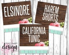 Honey & Lace Clothing Name Cards, Honey and Lace Clothing Style Card 5x5, Honey Lace Consultant Fb Shop Facebook Album Covers, best rustic wood vintage shabby chic design by TootSweetDesignCo on Etsy