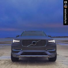 The #AllNewXC90 taking Cape Cod by storm #literally repost @eastwestkyle #latergram Waiting for the blizzard. #jonas #sunset #volvo #XC90