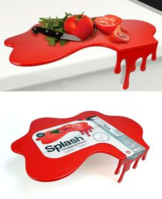 Add a little fun to slicing and dicing. Nope, this is not blood. Check it out==>   Mustard Splash Chopping Board   http://gwyl.io/mustard-splash-chopping-board/