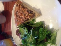 New Year's Day Brunch at Armsby Abbey - mushroom quiche - 1.1.2013