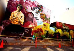 Cern Paints Bruce Lee in Brooklyn Martial Artist, New York Street, Bruce Lee, Street Artists, Public Art, Graffiti Art, Poster Wall, Art Forms, Psychedelic