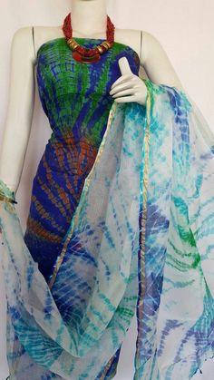 Ravishing Blue Colored Pure Kotta Silk Kurti With Dupatta Silk Kurti, Silk Sarees, Salwar Designs, Designer Party Wear Dresses, Kamiz, Ethnic Looks, Tie Dye Dress, Indian Fashion, Fashion Dresses