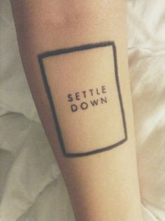 settle down the 1975 tattoo