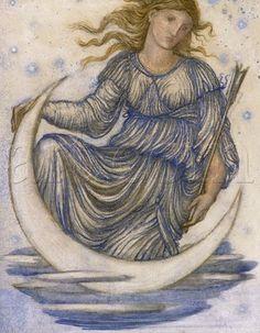 Edward Burne-Jones - Luna
