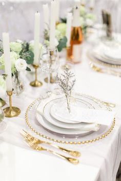 Bride's Wedding Show 2018 via Elegant Productions   Modern Gold Lavender Table Ghost Chairs