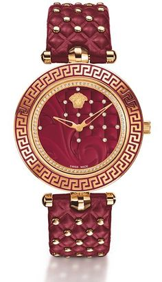 T Wear Versace every day with the house's crimson timepiece ($3,695). Accented with diamonds and the requisite Medusa head, it's practical glam.