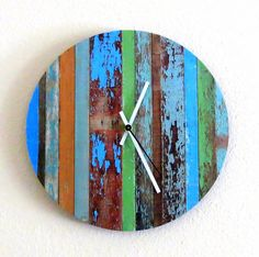 Rustic Chic Wall Clock Unique Clock Home and by Shannybeebo