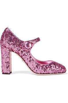 d283470feff7 DOLCE  amp  GABBANA Sequined Leather Pumps.  dolcegabbana  shoes  pumps  Leather Slip