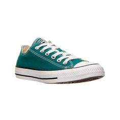 Converse Women's Chuck Taylor Ox Casual Shoes ($25) ❤ liked on Polyvore featuring shoes, sneakers, green, green shoes, low profile sneakers, breathable sneakers, converse trainers and holiday shoes