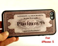 Ticket to Hogwarts iPhone cover (wish they made this for my Android phone)
