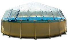 Pictures of a build it yourself pvc dome greenhouse pool - Do it yourself swimming pool kits ...