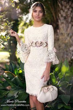 70 Trendy Ideas for dress wedding invitada vestidos Elegant Dresses, Pretty Dresses, Vintage Dresses, Beautiful Dresses, Dress Skirt, Lace Dress, Dress Up, White Dress, Short Dresses