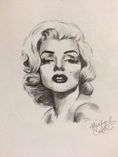 This is a sketch I did today of Marilyn Monroe. I sketched it OUTSIDE, no less, as it was a beautiful day. Hope you enjoy it.