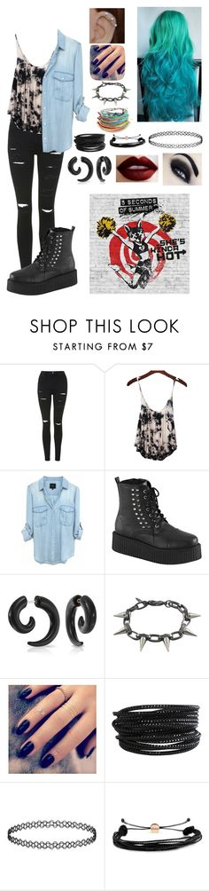"""HAS ANYBODY SEEN THE SKH MUSIC VIDEO!!!!!!!????????!!!!!!!!!!"" by fivesecondsof4australianidiots ❤ liked on Polyvore featuring Topshop, Bling Jewelry, Joomi Lim, Lottie, Pieces and Domo Beads"