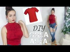 Como transformar camiseta em blusinha gola alta feat Yasmin Costa - YouTube