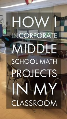 Incorporating Middle School Math Projects into the classroom! Incorporating Middle School Math Projects into the classroom! Teaching 6th Grade, Sixth Grade Math, Teaching Math, Maths, Teaching Tips, Teaching Career, Middle School Classroom, Math Classroom, Classroom Ideas
