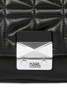 e126f9de7afc KARL LAGERFELD - K KUILTED LEATHER SHOULDER BAG - LUISAVIAROMA - LUXURY  SHOPPING WORLDWIDE SHIPPING -