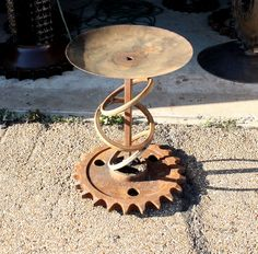Recycled Art Furniture Industrial Metal by RecycledSalvage, $999.99