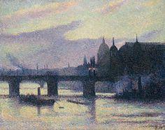 Maximilien Luce(1858ー1941)「Vue de Londres(Canon Street)」(1893)