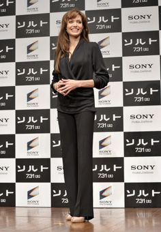 Angelina Jolies press conference styles