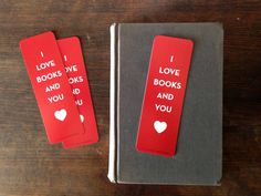I Love Books And You Bookmark by RanchandRodeo on Etsy