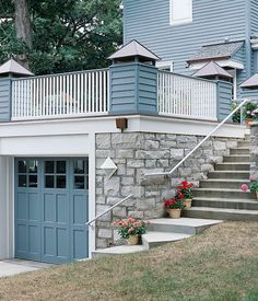 Garage rooftop deck house pinterest rooftop deck for Garage with deck on top