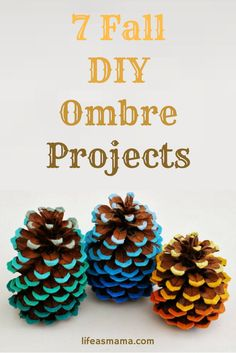 With the gorgeous colors that fall has to offer, ombre can turn some bland, boring items into something really beautiful. If you'd rather try the ombre look in your home instead of your hair, these projects will give your abode a wonderful touch of fall!