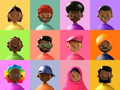 Avatar 3d, 3d Character, Character Design, Ri Happy, Plastic Texture, Toy People, 3d Icons, Outline Illustration, Web Magazine