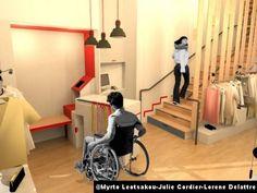 Le Courrier de l'Architecte | L'accessibilité des commerces par les étudiants de l'Ecole de design Nantes Atlantique