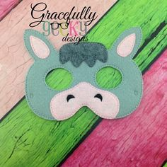 Donkey Mask Embroidery Design - 5x7 Hoop or Larger