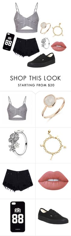 """""""Untitled #18"""" by breanna113 ❤ liked on Polyvore featuring Ally Fashion, Monica Vinader, Pandora, Kate Spade, Lime Crime, LES (ART)ISTS and Vans"""