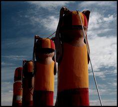 Lifesavers! Pier Bollards, Geelong, Australia