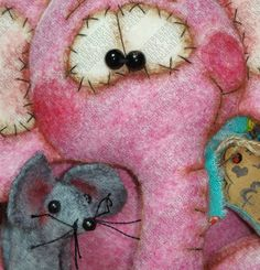 Peanut Elephant and Pip Mouse Pattern 211 by GingerberryCreek