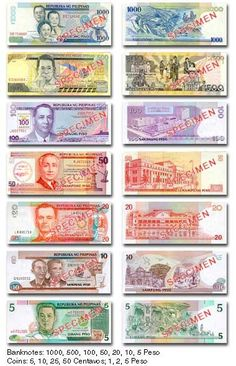 Philippine Currency Manila Converter Exchange Rate Money Asia Travel Philippines