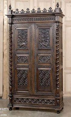 19th Century Gothic Armoire