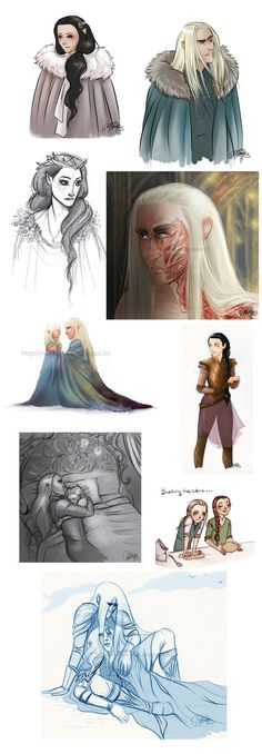 Mirkwood family doodles by MarineElphie on DeviantArt. If this doesn't rip your heart out, I don't know what else will...