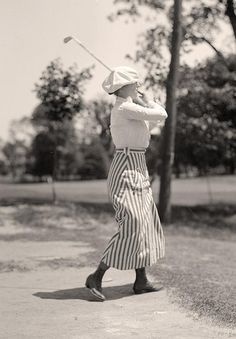 Old Rags - Miss Edith Gordon playing golf, 1916 Another...