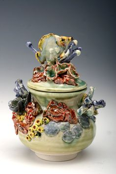 Butterfly fish colored porcelain