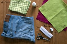 Craft for Kids - Denim Pencil Case. Here's what you need!