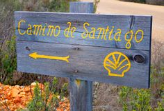 Follow the yellow arrows and clam shells along the Camino.