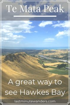 With significant Māori history and fantastic views over Hawkes Bay, New Zealand, Te Mata Peak is a great day out for hikers, bikers and drivers alike. All Over The World, Around The Worlds, New Zealand Travel Guide, Hiking Guide, Great Days Out, Meeting New People, Wineries, Campervan, Travel Advice