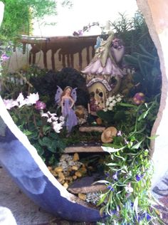 Purple Fairy Garden