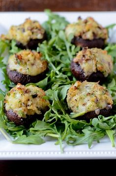 Crab and Brie Stuffed Mushrooms :) - Click image to find more popular food & drink Pinterest pins