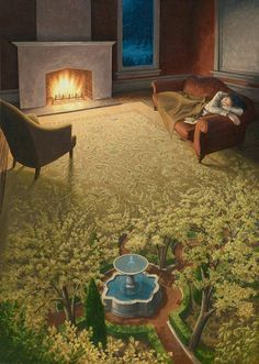 The mind melting paintings of Rob Gonsalves - Album on Imgur