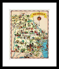 Georgia Satellite Image Map Georgia State From Space Georgia - Modern map of georgia us