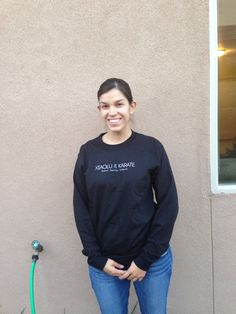 Mia's awesome new long sleeve shirt.  Available for order.  Contact me #xiaolukarate