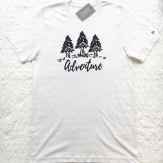 Adventure UNISEX slogan Tshirt typography logo by JunkboxCouture