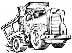sketchy Dump Truck Illustration Stock Vector - 6754586 @ http://www.123rf.com/photo_6754586_sketchy-dump-truck-illustration.html
